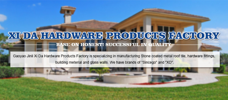 Top quality stone coated metal roofing tile with shingles type design