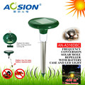 Two-in-one solar pest control items frequency replaceable battery mole repeller with LED light