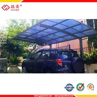 Flat Roof Carports with Polycarbonate Sheet