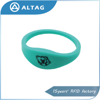 colorful hf 13.56mhz soft silicon nfc bracelet