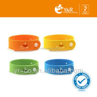 High quality 100% pure natural essential oil waterproof citronella mosquito repellent bracelet OEM China supplier