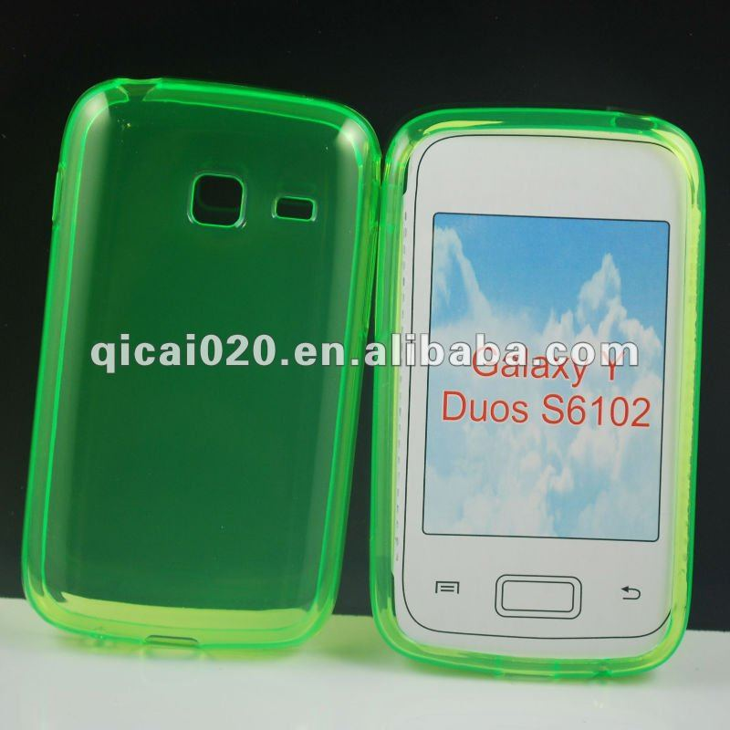 TPU Case For samsung S6102/GALAXY Y Dous mobile phone