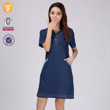 OEM wholesale different types of large size long denim dresses for women