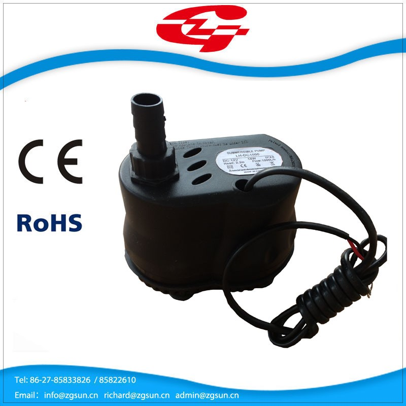 submersible clean solar water pump for air cooler and water fountain DC1000