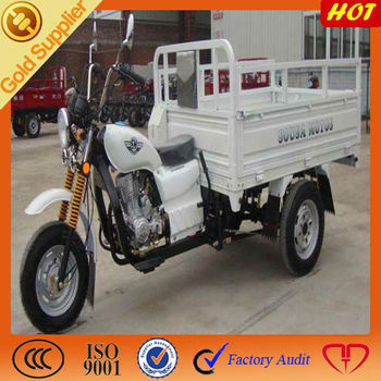 Low displacement three wheel delivery motorcycle