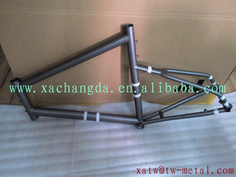 "XACD made titanium road bike weldless frame 20"" titanium touring bike minivelo"