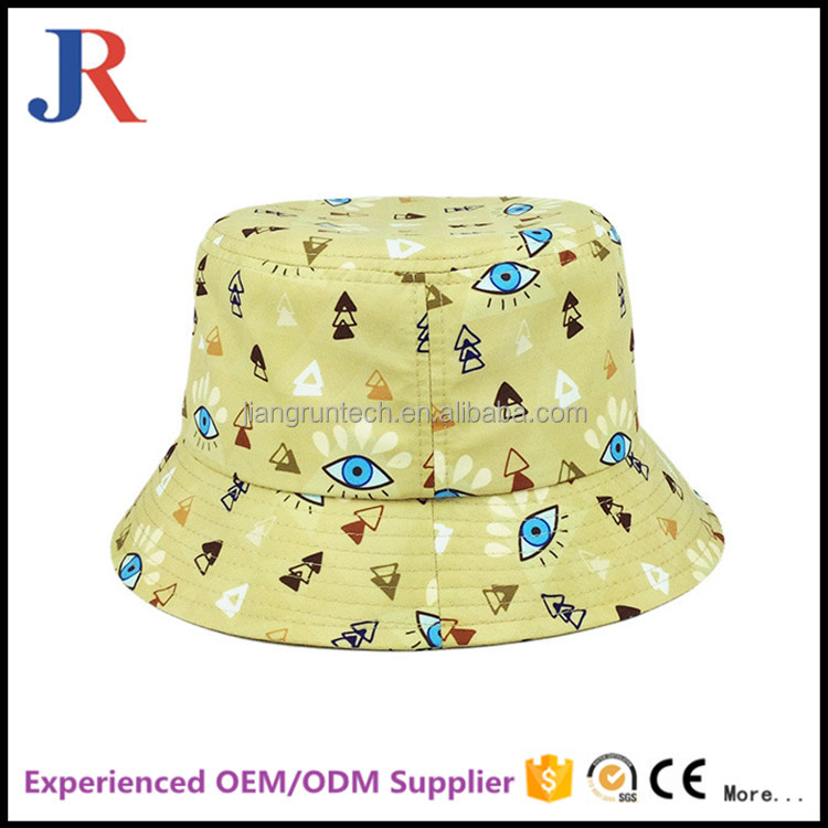 custom short brim 100% cotton tie dyed plain funny kids bucket hat