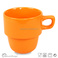 ceramic coffee latte for popular home use cheap stackable porcelain coffee mug