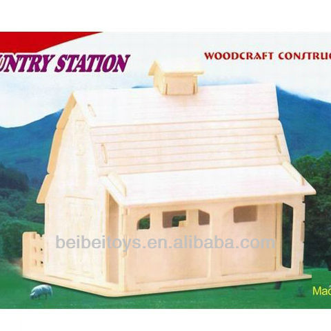 Wooden 3D Puzzle DIY Wooden House
