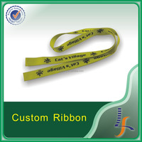 with buckle and metal clip woven logo lanyards