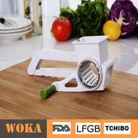 Multi Rotary Cheese Grater, Spray-paint Vegetable Shredder and Fruit Slicer with 5 drums