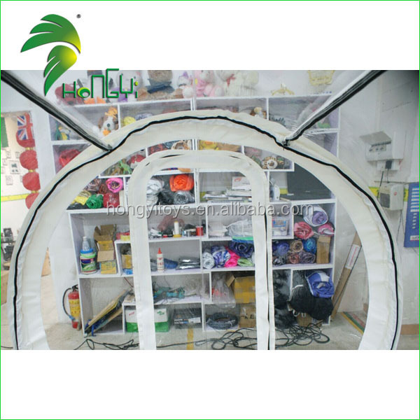 Good PVC material 6m inflatable transparent bubble tent in our facotry