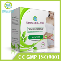 Free sample OEM manufacturer lose weight products fat burning slimming patch