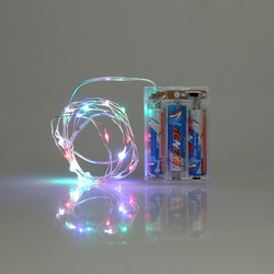2016 hot sell mix color led naked wire light string 3*AA battery box control