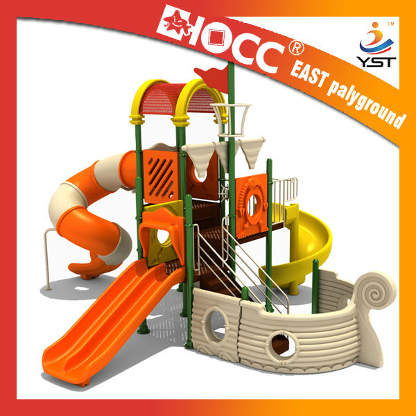 Pirat ship with tube slide amusement park outdoor EAST design