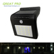 Solar Porch Wall Light, Wireless Waterproof Outdoor Solar Motion Sensor Security Light For Step Stair,Patio,Garden