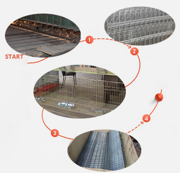 Rabbit farming breeding cages, metal animal husbandry rabbit cage