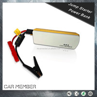 Car Member 12V 15000mah portable dry car battery for start gasoline car and charge mobile laptop with lighting