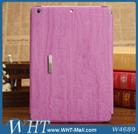Hot Selling Wood Wave Case Leather Stand Cover For iPad Air 5