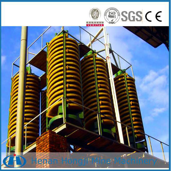 spiral chutes for sorting iron ore, ilmenite, chromite 0.2-45T/H(Capacity)