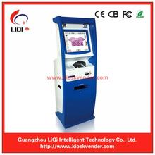 Self-service Payment Kiosk Machine with A4 printer For information kiosk And touch screen kiosk