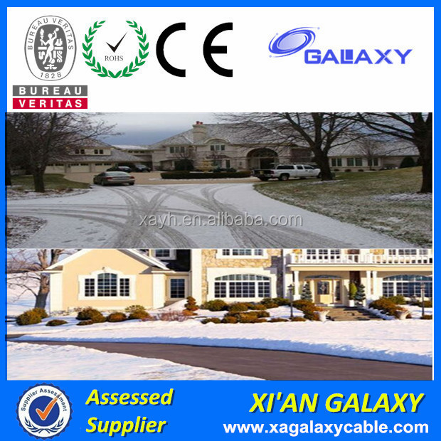 Driveway Heating Systems XLPE Insulation PVC Jacket Heating Cable Twin Conductor Heating Cable