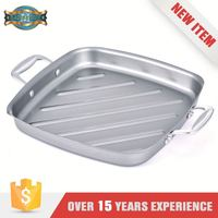 Heat Resistance Stainless Steel Non-Stick Fry As Seen On Tv Kitchen Square Grill Pan