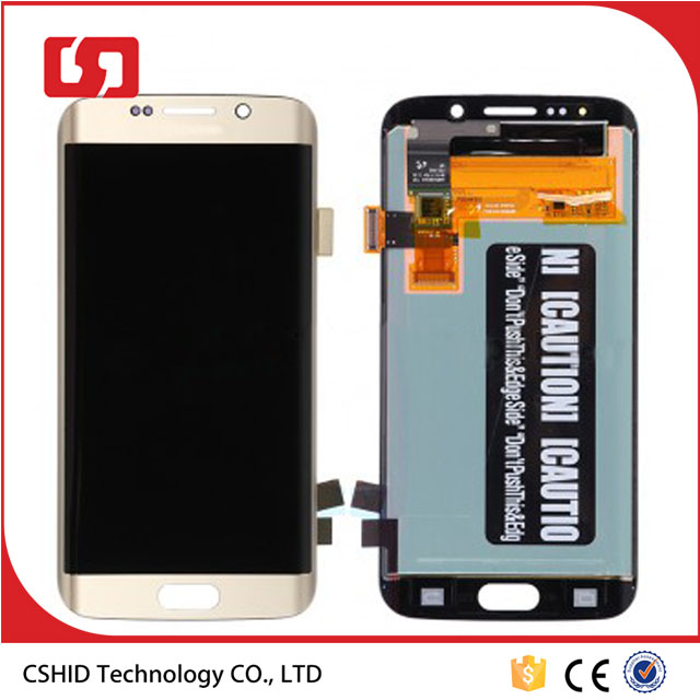 Gold LCD screen For Samsung Galaxy S6 Edge LCD Screen Digitizer Touch