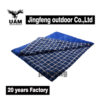 Polyester fabric double camping sleeping bag