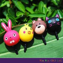 Promotional gifts Cute Rabbit Earphone Jack Plug Anti Dust Plug For Smartphone