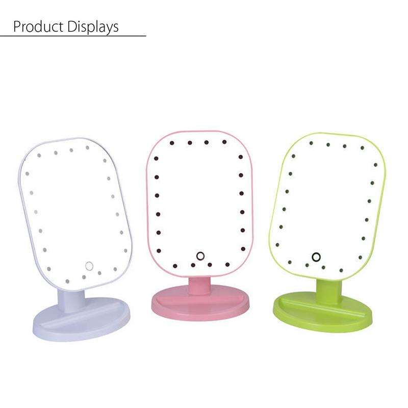20 LED Lights Makeup Mirror 3 Folding Cosmetic Tabletop Beauty Vanity Mirror Adjustable Countertop Light Mirror New Design