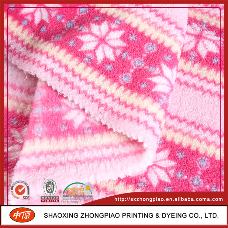 Manufacture Customized Printed Coral Fleece