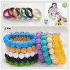 Kids Chew Bead Bracelets/Food-safe Odorless Silicone Teething Bangle Jewelry Mom Chic Fashion