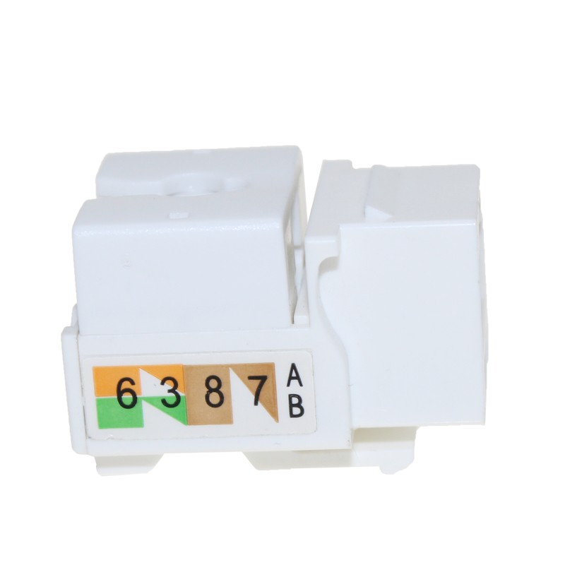 1 port cat5e cat6 keystone jack RJ45 mounting box