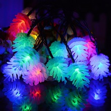 2 light mode solar string light modern usb rechargeable led holiday light