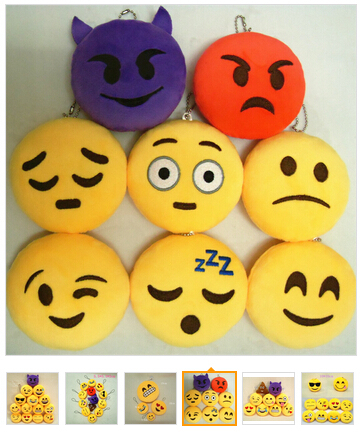 Cute Fast Delivery new design whatsapp custom plush emoji neck pillow