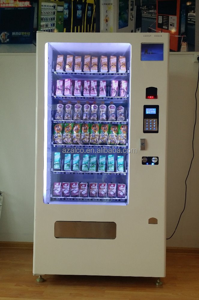 LCD optional vending for juice and milk atm vending machine /China factory beer bottle vending machine