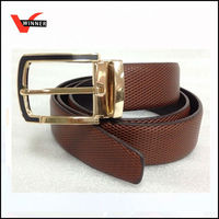 Real cow hide genuine leather belt with matel rivet