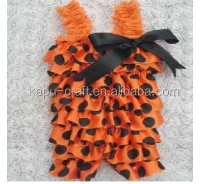 china product and low price wholesale satin petti romper for 0-5years baby kids for chirstmas and halloween