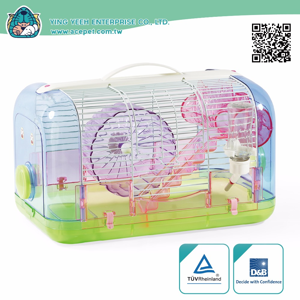 new premium plastic curve modeling plastic with iron Wire hamster cage Equipped with 16cm hamster wheel,plastic simulation trunk