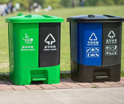 Wholesale Plastic Dustbin 20 Liter Good Quality Indoor Twin Pedal Trash Bin