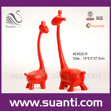 Custom resin modern orange cartoon children unique interior deer themed china designer home decor wholesale