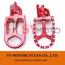 pit bike spare parts CRF CNC billet footpeg with fittings dirt bike parts,off road bike parts