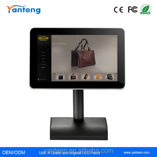 Rounded corner 13.3inch interactive digital signage,touch screen advertising player