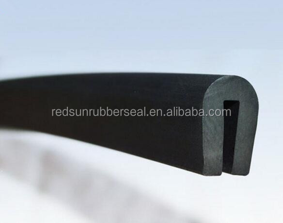 U extruded silicone rubber seal
