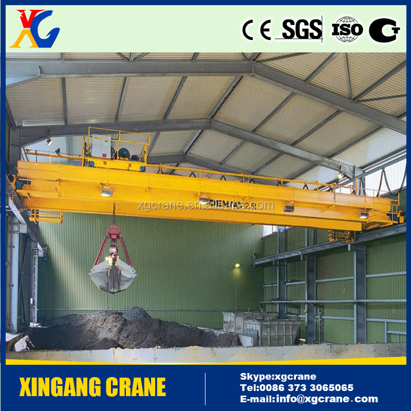 5ton 10 ton 20ton Grab Overhead Crane with Grab Buckets for Coal
