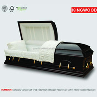 DOMINION cheap wood coffin and wicker coffin china manufacturer