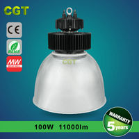 Alibaba new product hot sale garden led high bay light 100w, green light high bay Exhibition