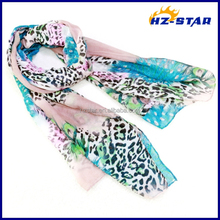 HZW-13328003 peacock's eye Excellent brand name fashion and popular 2015 silk scarf