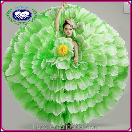Modern stage costume opening petal skirt flower fancy dress costumes
